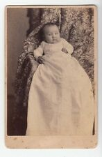 [37709] 1800s Cabinet Photo Of Baby In Dress (McClelland: Red Wing, Minnesota)