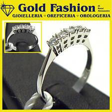 Anello in oro bianco 18 kt e diamanti - ct 0,28 -GF5051