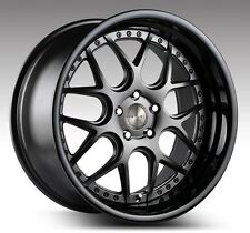 19 inch koya ispiri isr11 custom drilling dished 8.5 & 9.5 wide bmw merc holden