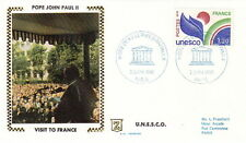 1980 POPE JOHN PAUL II UNESCO FRANCE VISIT POSTAL COVER