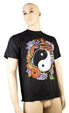 T-Shirt Tao Dragon drago Japanisch schwarz Herren Größe L