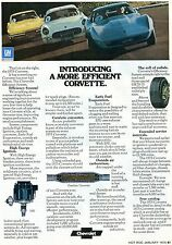 1975 Print Ad of Chevrolet Chevy Corvette General Motors GM