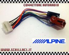 Connettore adattatore ISO autoradio ALPINE 16 contatti installazione car stereo