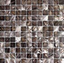 """ EMPEROR "" Mother of Pearl Brown Shell Mosaic Tile Backsplash Tiles Wall Bath"