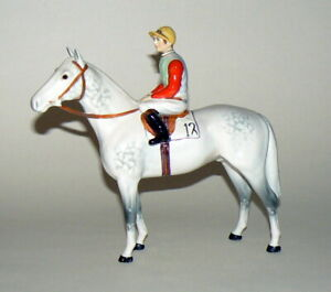 LOVELY BESWICK HORSE AND JOCKEY ON GREY No 1862