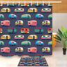 "Cute Vintage Travel Trailers Campers Shower Curtain Hooks Waterproof Fabric 72"""