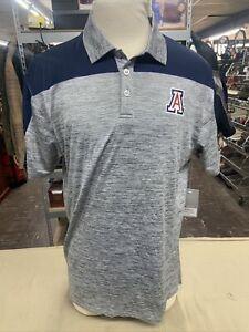 NEW Arizona Wildcats Colosseum Einstein Heathered Gray SS Polo Shirt Men's L