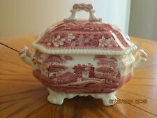 Copeland SPODE Pink TOWER (black backstamp) Large SOUP TUREEN w/LID