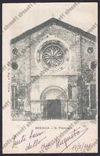 BRESCIA CITTÀ 170 Cartolina VIAGGIATA 1901 Foto G. NEGRI