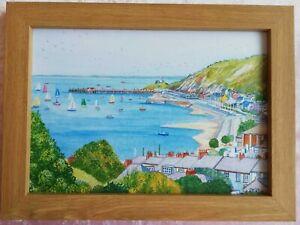 Mumbles Bay Swansea - Watercolour Painting - Tony Paultyn