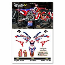 2010 - 2013 HONDA CRF 250 TLD Dirt Bike Graphics kit Motocross Graphics Decal