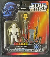 NEW Star Wars Deluxe Crowd Control Stormtrooper with Thruster & Claw Kenner 1996