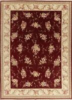 Aubusson Oriental Area Rug Wool Hand-Knotted All Over Floral Carpet 8 x 12
