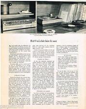 PUBLICITE ADVERTISING 095  1968   BANG & OLUFSEN -STRUER chaines haute fidélité