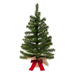 60cm Table Top Christmas Tree with Burlap Base Indoor Use - 510036