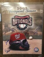 2005 WASHINGTON NATIONALS AUTOGRAPHED SIGNED AUTO BASEBALL PHOTO 8x10