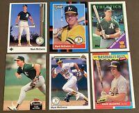 Mark McGwire 6-CARD LOT including 1987 Fleer Baseball's Best & 1989 Upper Deck