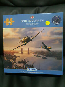 Gibsons G3112 Spitfire Skirmish by Nicolas Trudgian 500 pce jigsaw puzzle