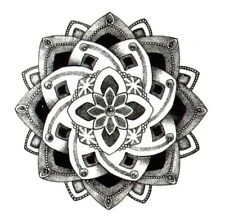 Temporary Tattoo #72 Lotus Flower Floral Body Art Stickers Removable Waterproof