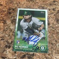 RJ Alvarez 2015 Topps Autograph Rc Oakland Athletics A's
