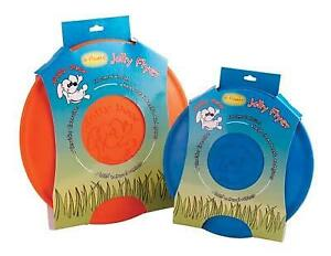 "One Jolly Pets 7 1/2"" Orange JOLLY FLYER (Flying Disc) DOG TOY, It Floats!  #kk"