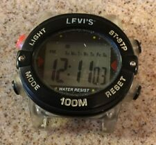 Vintage Levi's Digital  Watch Working Parts Repair No Band