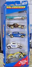 1998 HOT WHEELS '50s CRUISERS SERIES 5-Car Gift Pack/T-Bird, Chevy NIB #21076