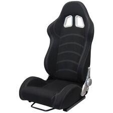 Sportsitz Schalensitz Tenzo-R Stoff schwarz mit Laufschienen