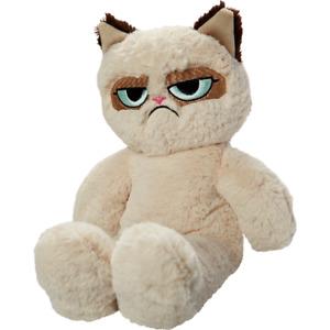 Dog Toy Grumpy Cat floppy squeaky soft plush Puppy Play Comfort Interactive 37cm