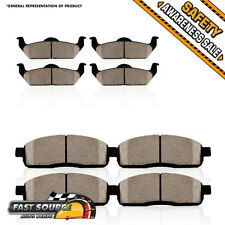 Front + Rear Ceramic Brake Pads Fit Ford Fusion Lincoln MKZ