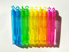 30 Mini Burbujas Varitas Estrellas De Neón Arco Iris Fiesta De Cumpleaños Bolsa Rellenos Para Niños