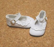 Doll Shoes, 47mm WHITE Classic Ankle Straps - Bitty Bethany