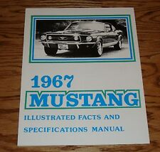 1967 Ford Mustang Illustrated Facts & Specifications Brochure Manual 67 Fastback