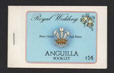 ANGUILLA 1981 ROYAL WEDDING $14 STAMP BOOKLET (SB5) *FINE & COMPLETE*