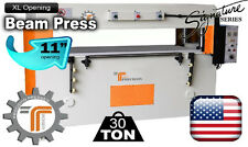 "NEW!! CJRTec 30 Ton 11"" XL Wide Opening Beam Clicker Press Die Cutting Machine"