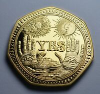 Supernatural/Occult Decider Coin Yes/No Chance/Prediction Ouija/Gothic/Angel