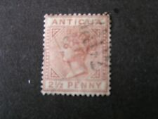 ANTIGUA, SCOTT # 13, 21/2d. VALUE, QV 1882-86 RED BROWN WMK. CROWN CA USED
