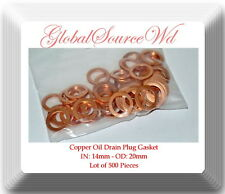 LOT 500 COPPER OIL DRAIN PLUG WASHER GASKET 14MM FITS: AUDI VW GM MAZDA SAAB &