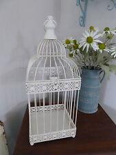 Creamy Antique White Metal Bird Cage Hom  Decor Wedding Card Holder Centerpiece