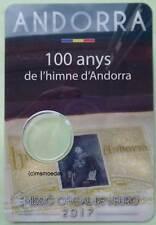 Andorra 2 Euro Münzkarte 2017 Hymne CoinCard Folder leer empty