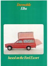 Ford Escort Mk1 Dormobile Elba Motor Caravan 1971 UK Market Foldout Brochure