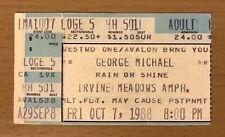 1988 GEORGE MICHAEL FAITH TOUR LOS ANGELES CONCERT TICKET STUB I WANT YOUR SEX