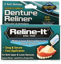 Reline-It Denture Produit pour Rebasage 2-Count Doux Supérieur et Inférieur