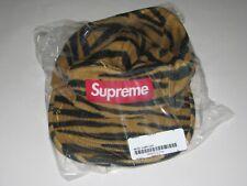 SUPREME Wool Camp Cap Tiger Stripe Hat Adjustable Strapback NEW! F/W 19 USA Made