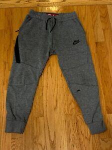 Boys Nike Sportswear Tech Fleece Pants Joggers Dark Gray M