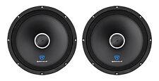 """(2) Rockville RXM104 10"""" 1200w 4-Ohm SPL Car Midrange Mid-Bass Speakers w/Bullet"""