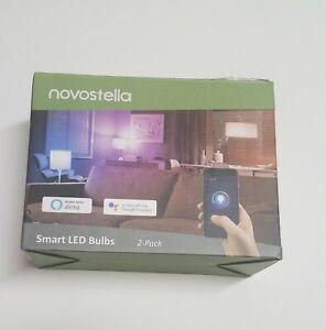 Novostella 2 Pack 9W Wi-Fi RF Control RGBCW Smart Light Bulbs