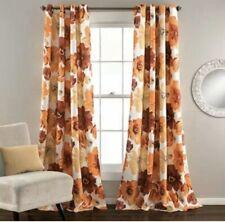 Lush Decor Leah Red and Orange 84 x 52-Inch Curtain Panel Pair - C28933P14-000