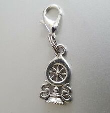 Sacred Wheel of Dharma dharmacakra Silver Clip Charm pendant path  to Nirvana