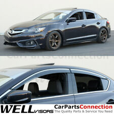 WellVisors Side Window Deflectors For Acura ILX Sedan 2013-2020 With Deflectors